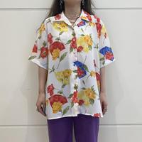 80s~ flower patterned S/S shirt