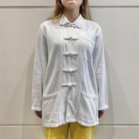 90s~ chinese design cotton shirt