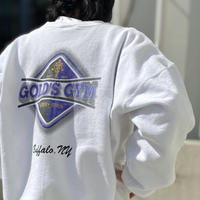 "90s ""GOLD'S GYM"" printed sweat shirt"