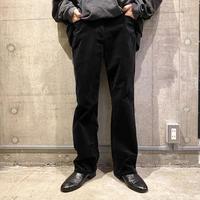 velours straight pants (BLK)