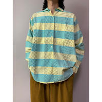 80年代 コットンオープンカラーシャツ