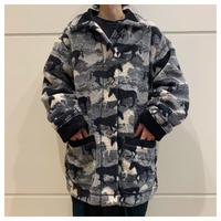 90s horse pattern fleece jacket