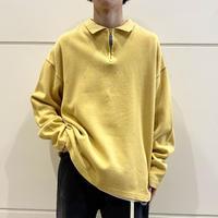 90s half zip cotton knit sweater