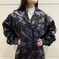 80s dolman sleeve design leather coat