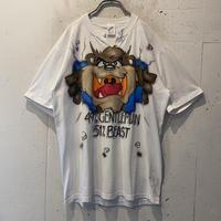 "80s ""TAZ"" hand printed T-shirt"