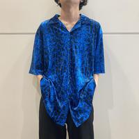 90s python patterned velours shirt