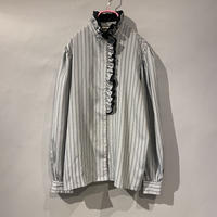 old stand collar frill design blouse