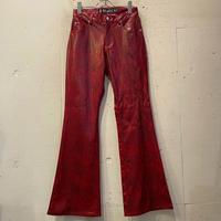 """""""Mudd"""" python pattern flare pants"""