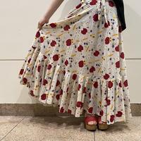 old flower patterned frill skirt
