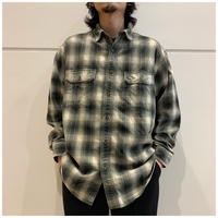 90s cotton shadow plaid shirt