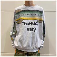 90s fish print sweat shirt