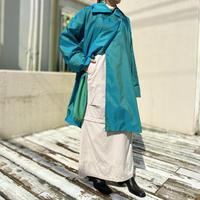 90s shiny design nylon coat