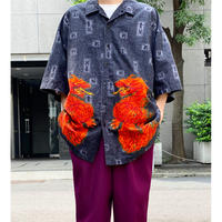 dragon pattern S/S shirt