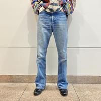 "70s~ ""SERAS"" denim flare pants"