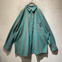 80s〜90s L/S striped cotton shirt