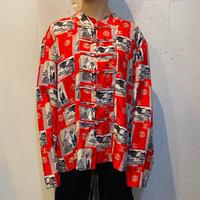 all pattern silk China shirt