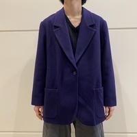 """90s """"LANDS' END"""" cashmere blend tailored jacket (PPL)"""