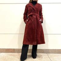 90s~ design suede leather coat