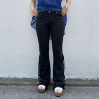 00s lace up design flare pants