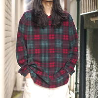 Checked fleece shirt