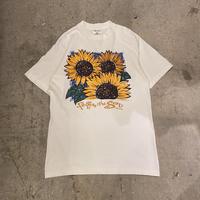 90s sunflower design printed tee