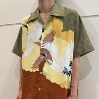 old crane printed s/s shirt
