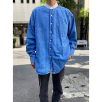 90s〜 bi-color design L/S denim shirt