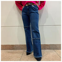 90s design flare denim pants
