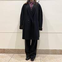 80s oversized shawl color wool coat