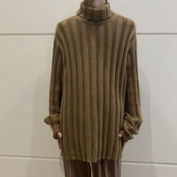 "90s~  ""GAP"" cotton turtleneck knit (BEG)"