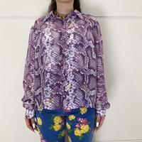 old python patterned  sheer shirt