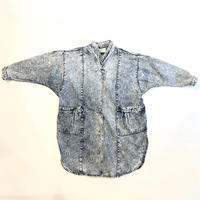 80s oversized chemical denim long jacket