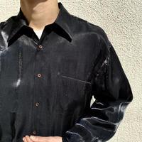 90s L/S shiny shirt (BLK)