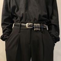 """BRIGHTON"" charm design leather belt"