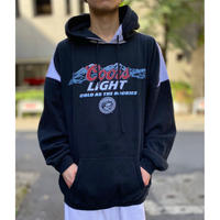 "bi-color design ""Coors Light"" hoodie sweat"