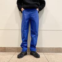 leather tapered pants (BLU)