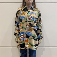 "old ""和柄"" l/s poly shirt"