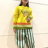 80s~ butterfly patterned knit sweater