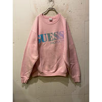 "90s ""GUESS"" logo print sweat shirt"