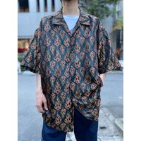 oversized fire pattern s/s shirt