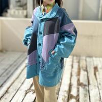 90s crazy patterned oversize jacket