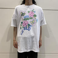 90s〜00s  flower&butterfly printed tee