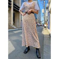 80s~ flower patterned dress