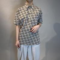 "70s  ""福""  design polo shirt"