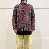 """""""WHITE STAG"""" paisley patterned china jacket"""