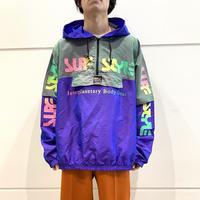 "90s~ ""SURF STYLE"" half zip nylon pollover"