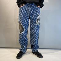 """90s """"MAJOR DAMAGE"""" design denim pants"""