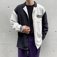 90s~L/S 2tone design shirt