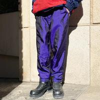 90s shiny nylon easy pants(PPL)