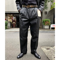 leather wide pants(Dead Stock)